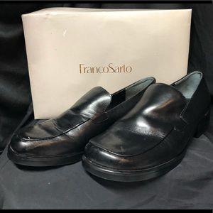 Franco Sarto Black Leather Shoes